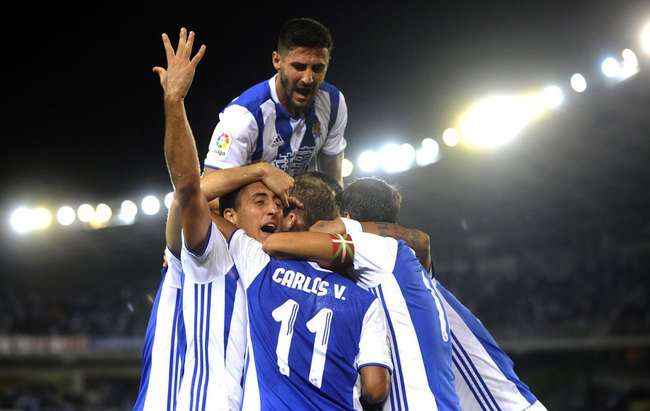 Celebracion del primer gol. Fuente: Marca