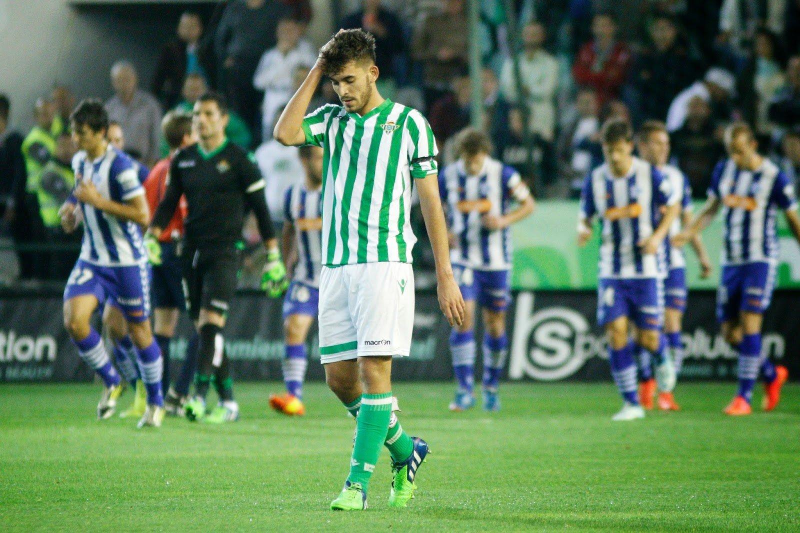 Ceballos tras un gol del Alavés. Fuente: TreceBarras