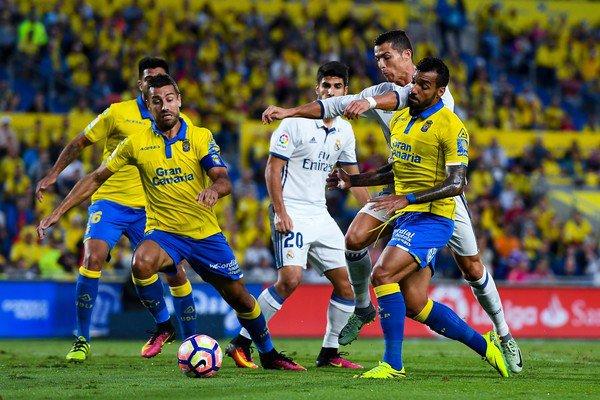 Macedo en el encuentro en el que se enfrentó al Real Madrid