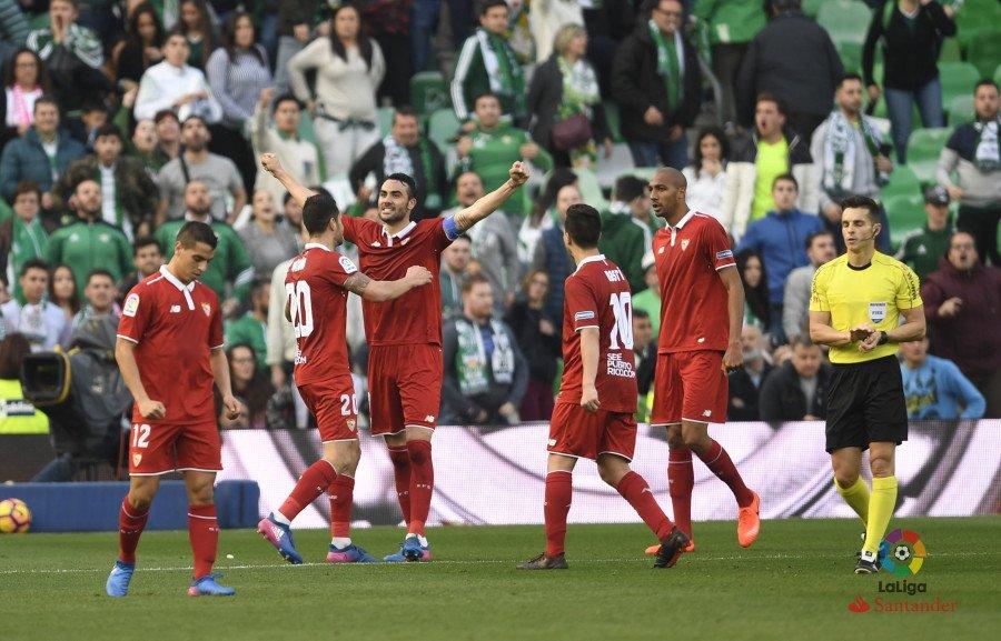 Iborra celebrando su gol vía LaLiga.es