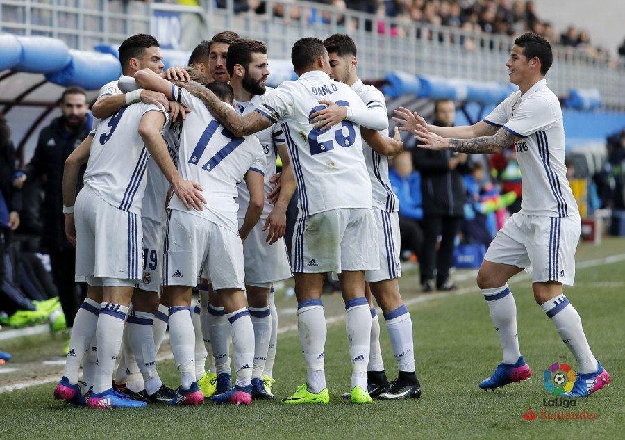 Eibar - Real Madrid. Fuente: La Liga