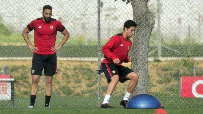 Nasri y Rami continúan su puesta a punto. vía marca.com