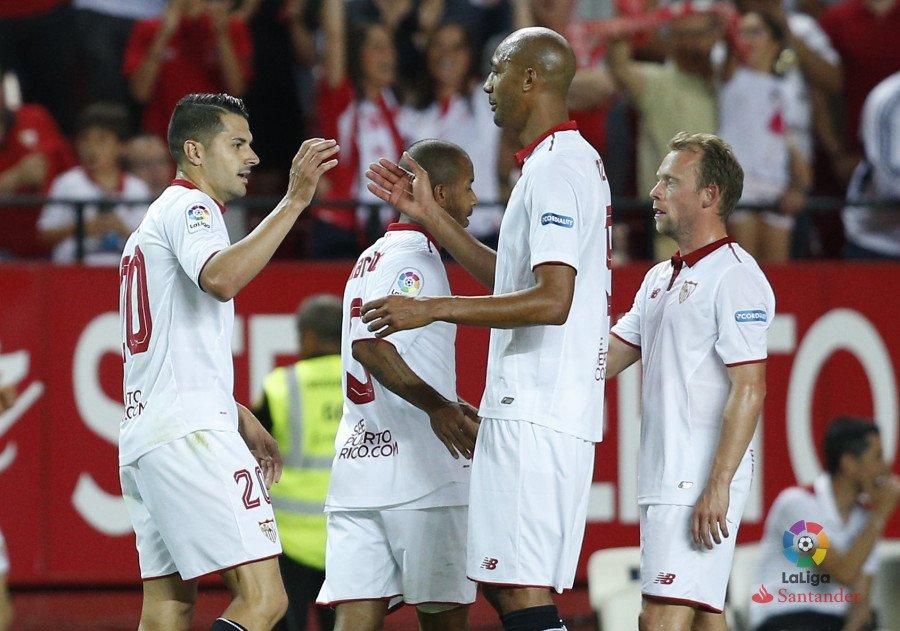El Sevilla celebra su última victoria, vía laliga.es