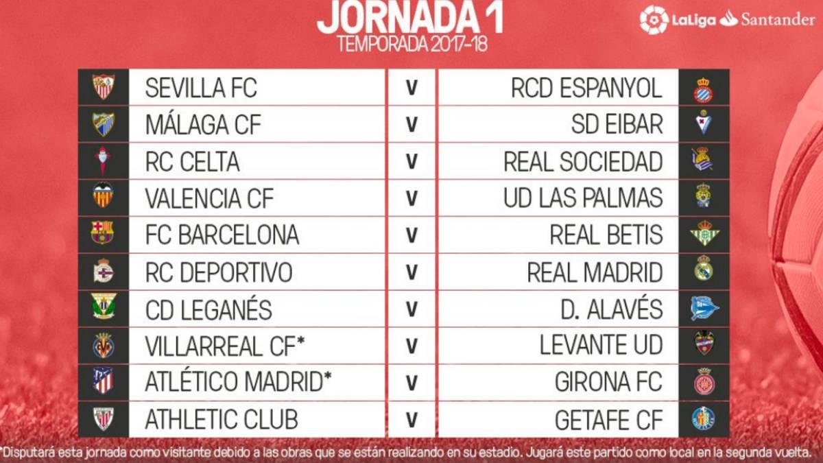 Sorteo de Liga para la temporada 2017/18