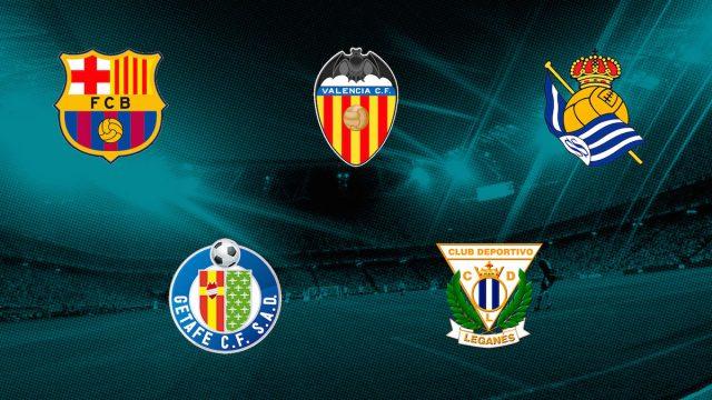 Barça, Valencia, Real Sociedad, Getafe y Leganés