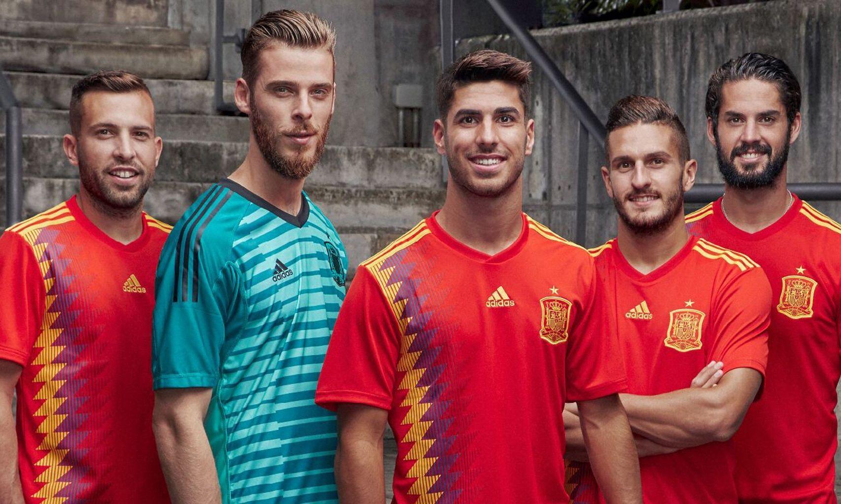 Asensio, Koke, Isco, De Gea y Jordi Alba - España