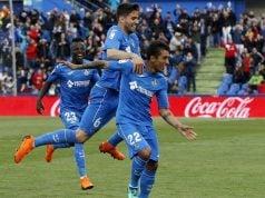 Damián Suárez celebrando un gol