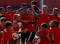 Sevilla FC entrenamiento