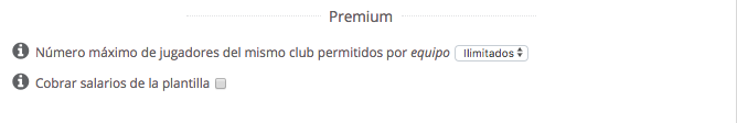 Liga Premium Biwenger - Equipos