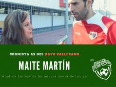 Maite Martín Cronista Rayo Vallecano