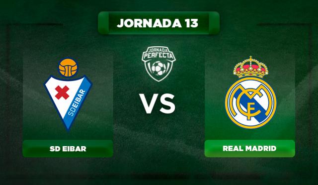 Alineación Eibar - Real Madrid