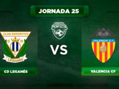 Alineación Leganés - Valencia