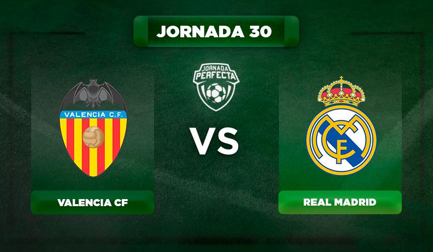 Alineación Valencia - Real Madrid