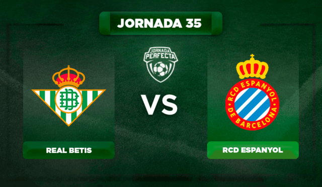 Alineación Betis - Espanyol