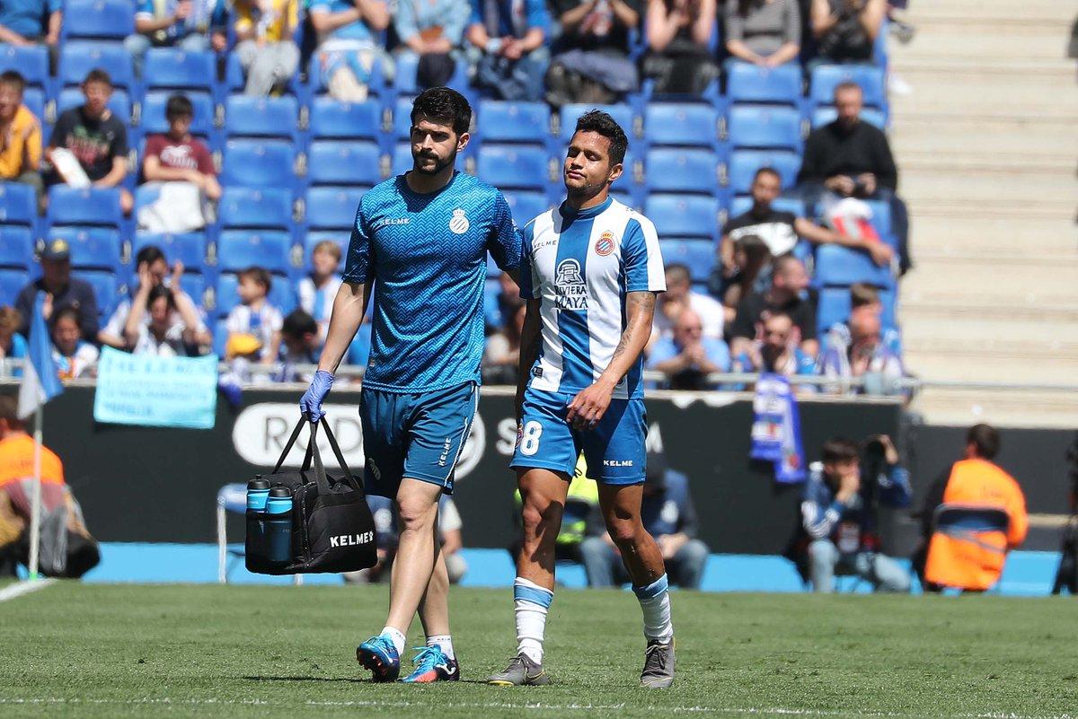 Rosales, lesionado en el momento decisivo para su futuro en el Espanyol