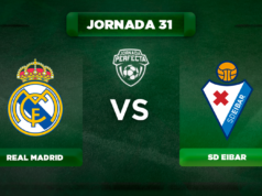 Alineación Real Madrid - Eibar