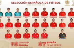 Lista Selección Española
