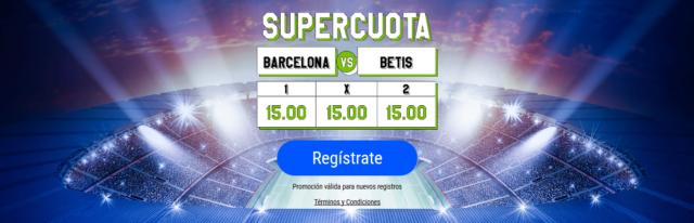 Supercuota Barça - Betis