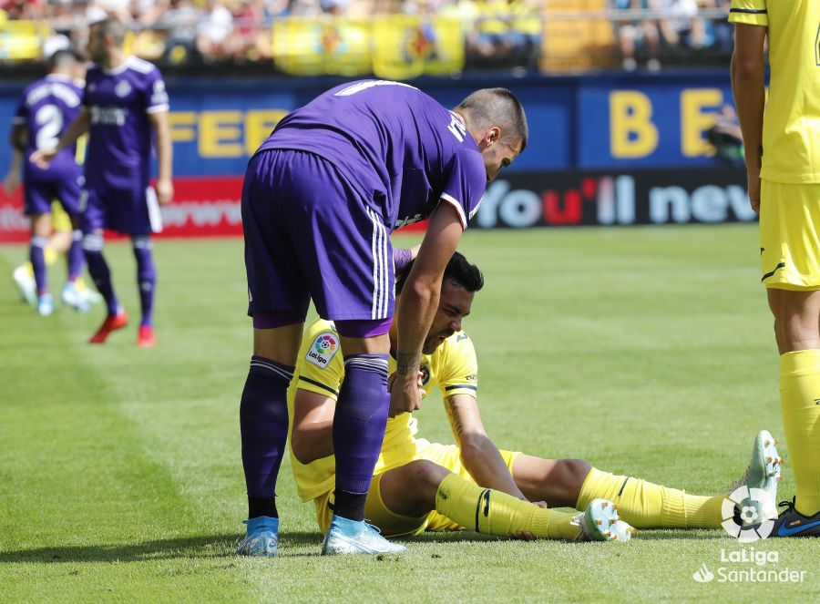Sergi Guardiola durante un partido con el Pucela