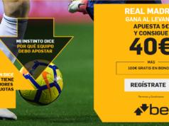 Supercuota Betfair Real Madrid - Levante