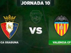 Alineaciones Osasuna - Valencia