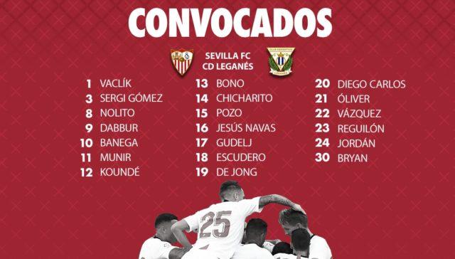 Convocatoria Sevilla - Leganés