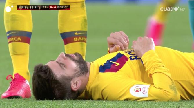 Piqué lesión Athletic - Barça