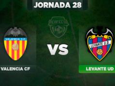 Alineaciones Valencia - Levante