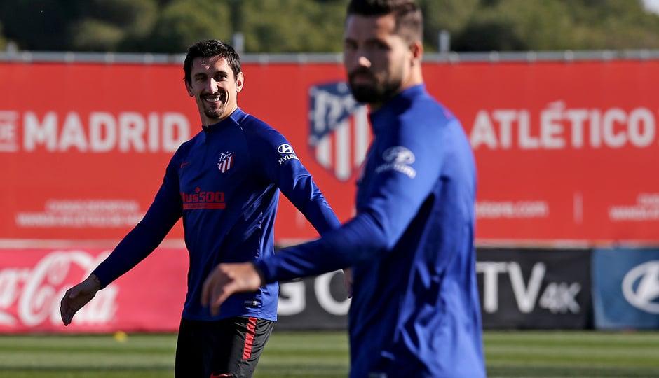 Felipe y Savic en un entrenamiento