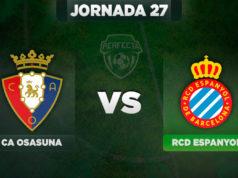 Alineaciones Osasuna - Espanyol