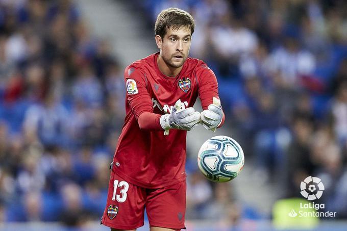 Aitor Fernández durante un partido con el Levante