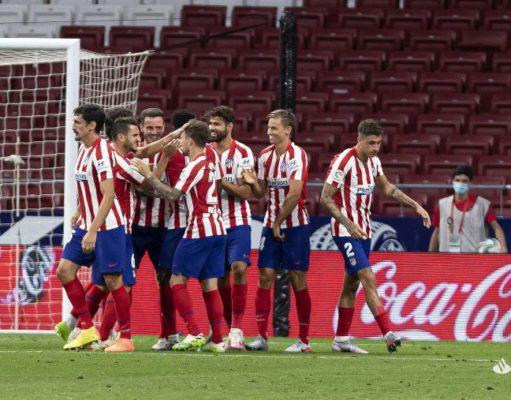 El Atlético de Madrid celebra un gol