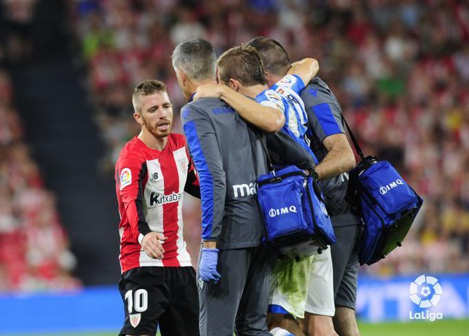 Illarramendi se marcha lesionado del partido ante el Athletic