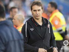 Lopetegui durante un partido con el Sevilla