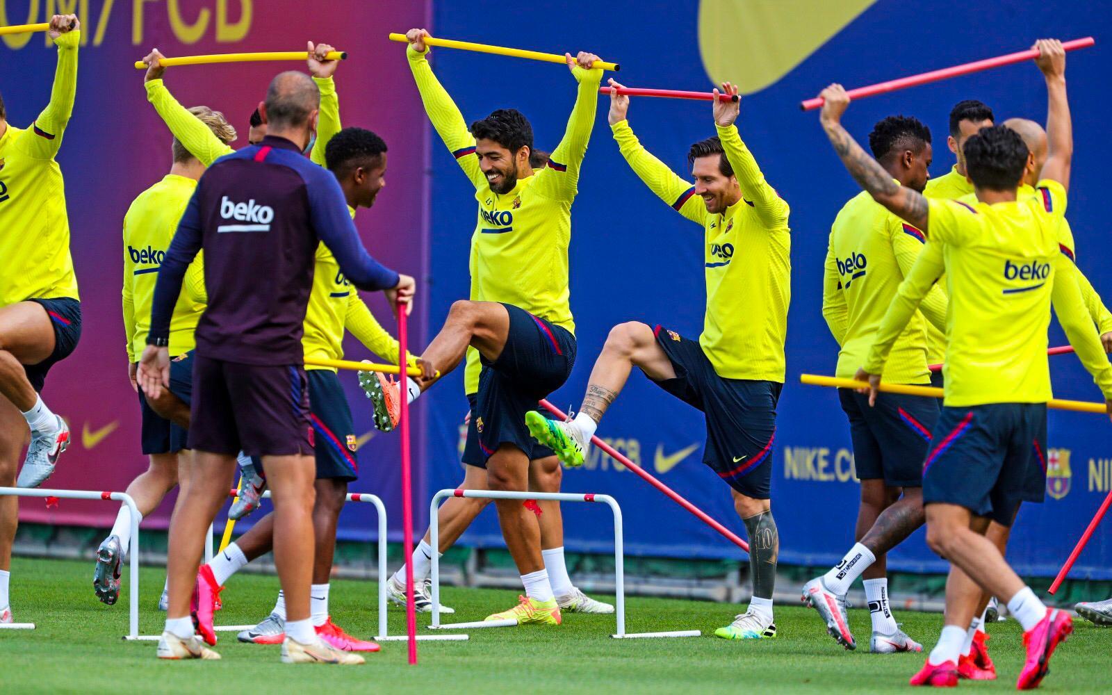Messi entrenamiento