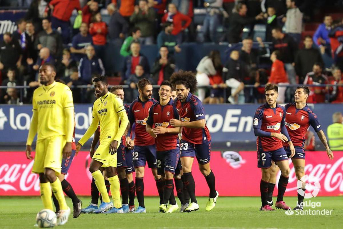 Roncaglia en un partido ante el Villarreal