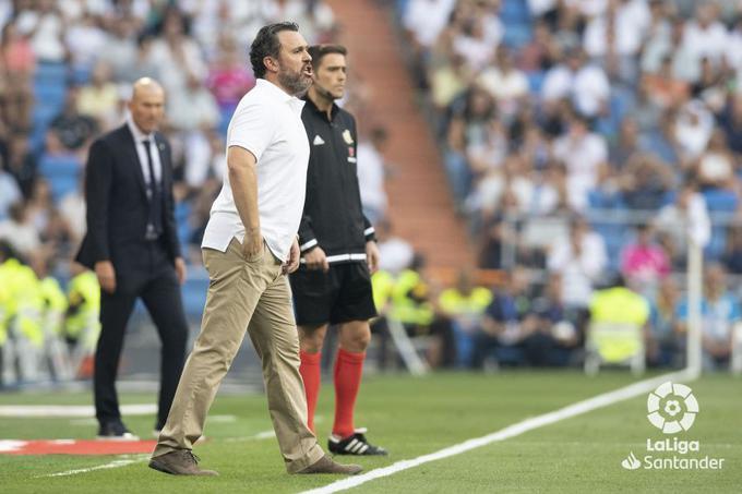 Sergio durante un partido ante el Real Madrid