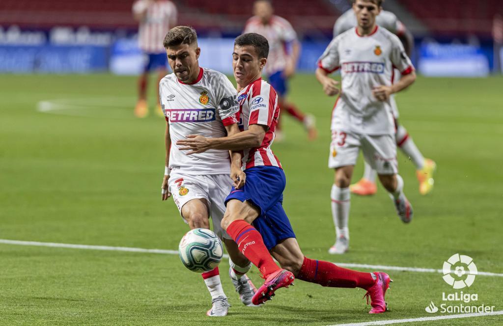 Manu Sánchez en un partido frente al Mallorca