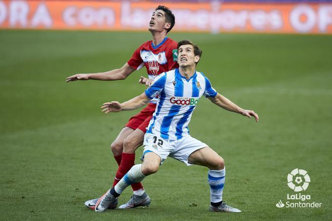 Aihen Muñoz con la Real Sociedad