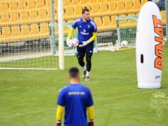 Jeremías Ledesma durante un entrenamiento con el Cádiz