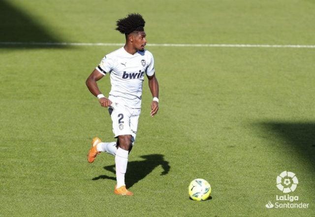 Correia en el partido ante el Villarreal
