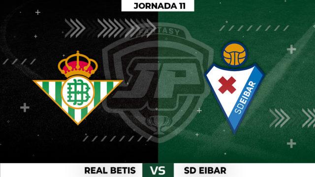 Alineaciones Betis - Eibar Jornada 11