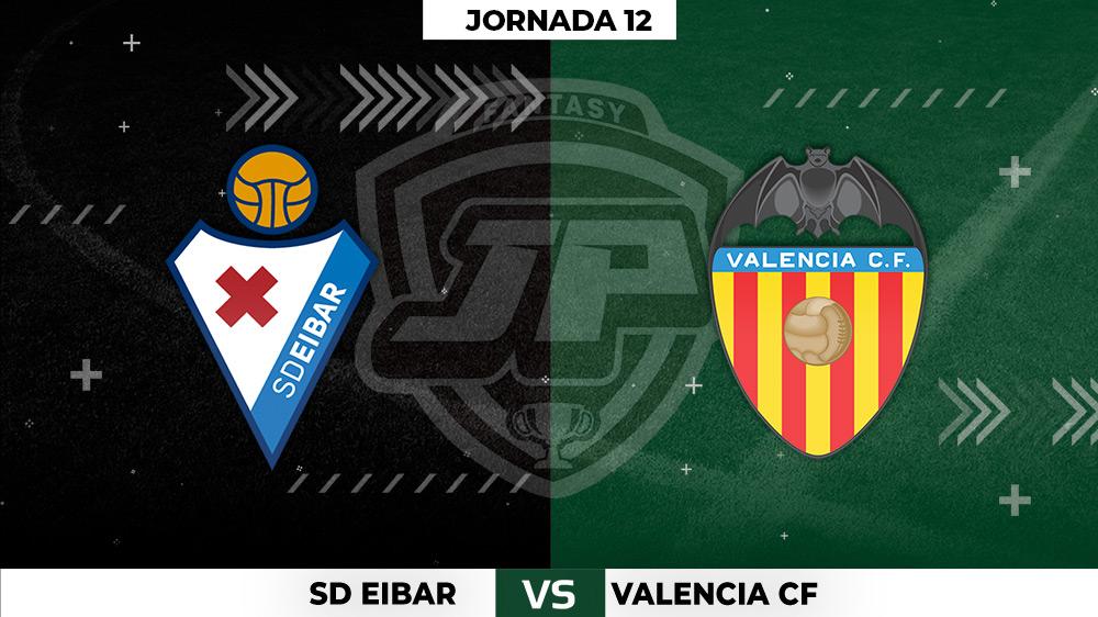 Alineaciones Eibar - Valencia Jornada 12