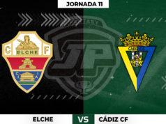 Alineaciones Elche - Cádiz Jornada 11