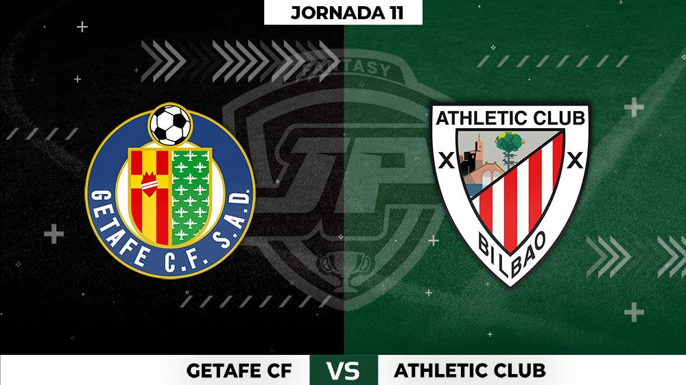 Alineaciones Getafe - Athletic Jornada 11