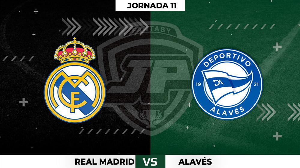 Alineaciones Real Madrid - Alavés Jornada 11