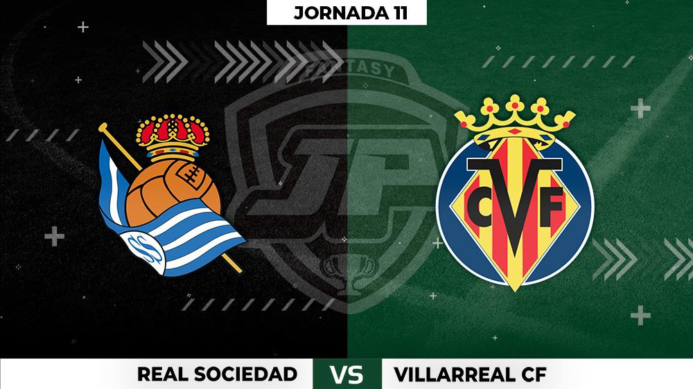 Alineaciones Real Sociedad - Villarreal Jornada 11
