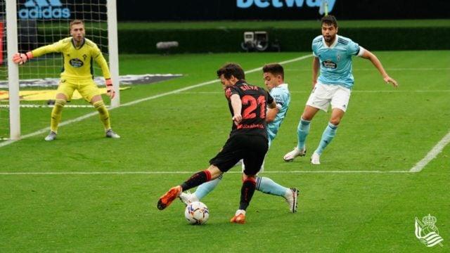 Silva durante el partido ante el Celta de Vigo