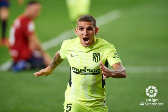 Torreira celebra un gol con el Atlético