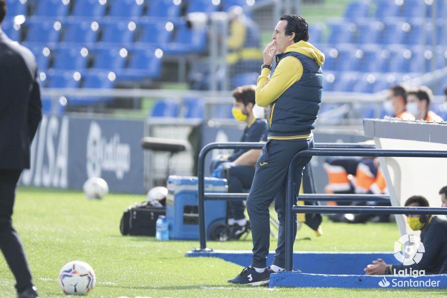 Emery durante un partido